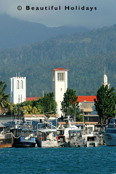 view of apia town